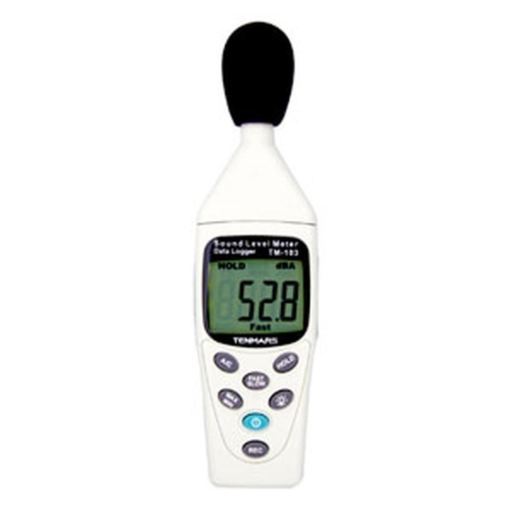 マザーツール デジタル騒音計 データロガ機能付 測定範囲30~130dB TM-103