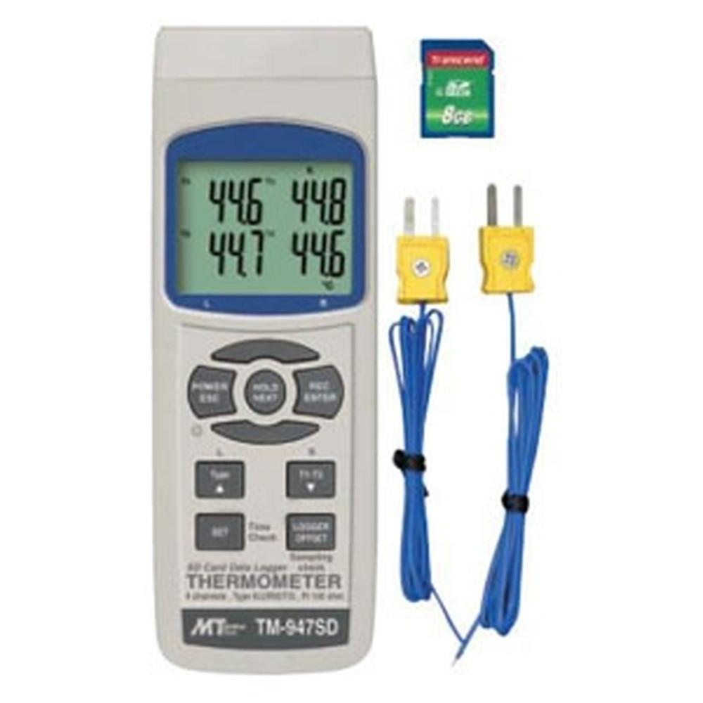 マザーツール デジタル温度計 4チャンネル同時測定 SDカードスロット搭載 データロガ機能付 TM-947SD