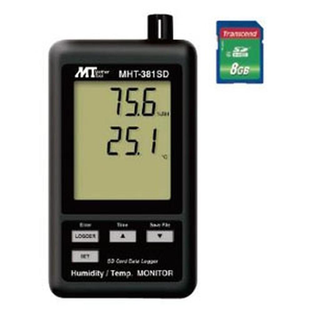マザーツール デジタル温湿度計 SDスロット搭載 データロガ機能付 温度・湿度同時表示 MHT-381SD