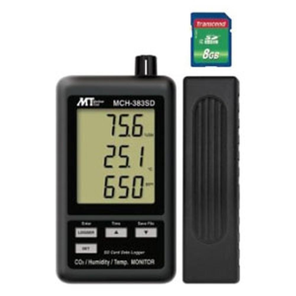 マザーツール デジタル温湿度・CO2計 SDスロット搭載 データロガ機能付 温度・湿度・CO2同時表示 MCH-383SD