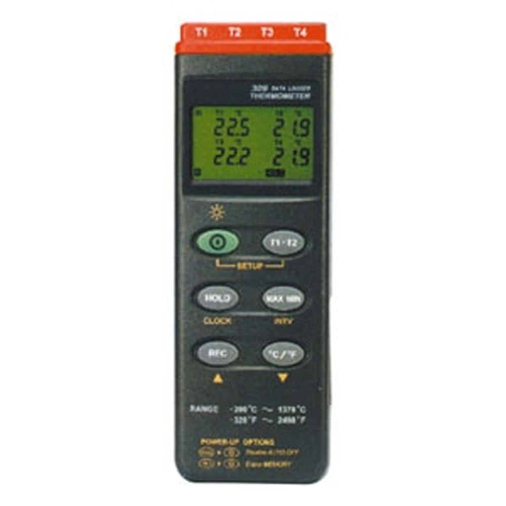 マザーツール デジタル温度計 4点式 データロガ機能搭載 測定範囲-200~1370℃ MT-309