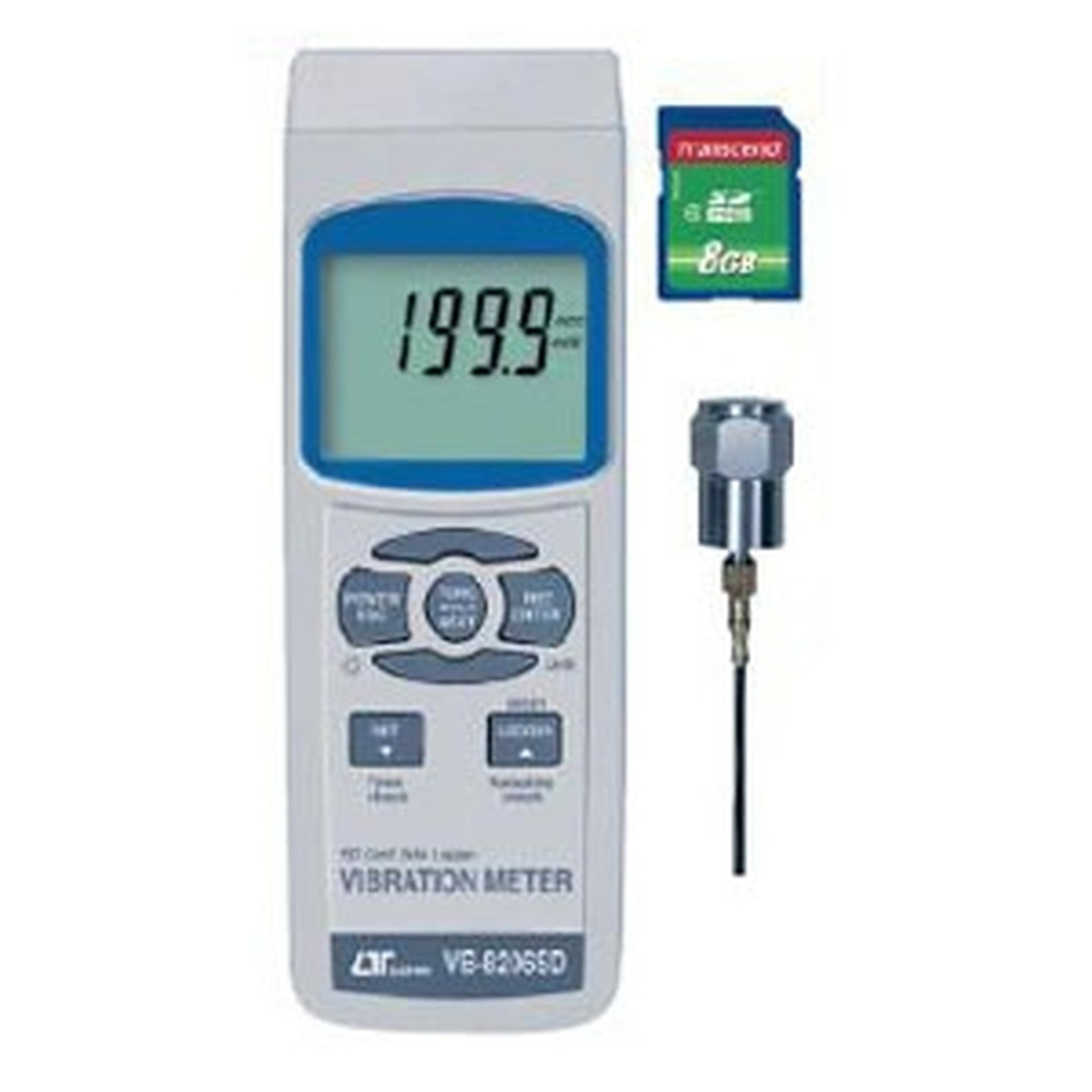 マザーツール デジタル振動計 SDスロット搭載 データロガ機能付 振動速度(mm/s)・加速度(m/s2)・変位(mm)測定 VB-8206SD