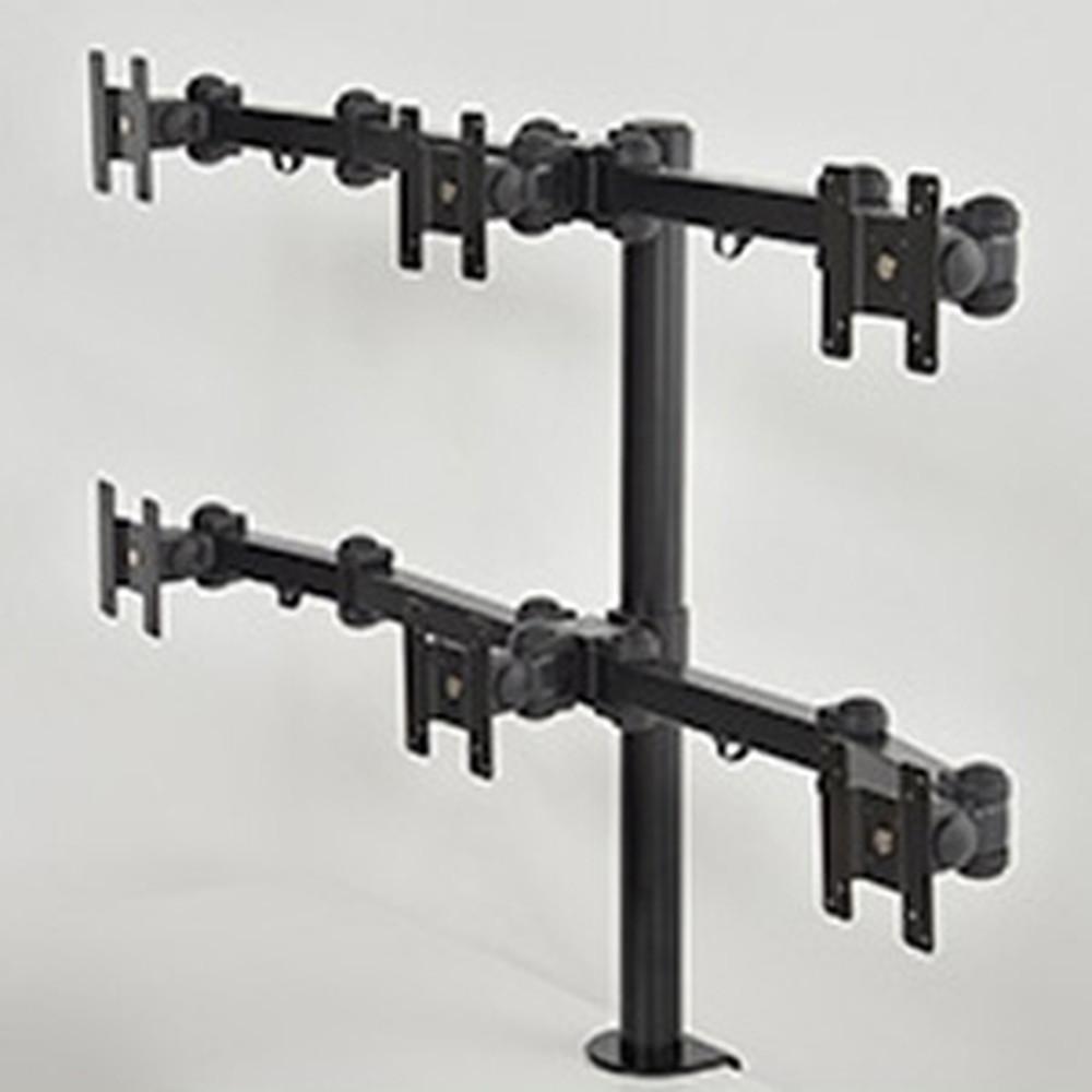 サンコー 20軸式くねくね6モニターアーム 6面モデル 耐荷重各」6kg クランプ式 MARMGUS16W