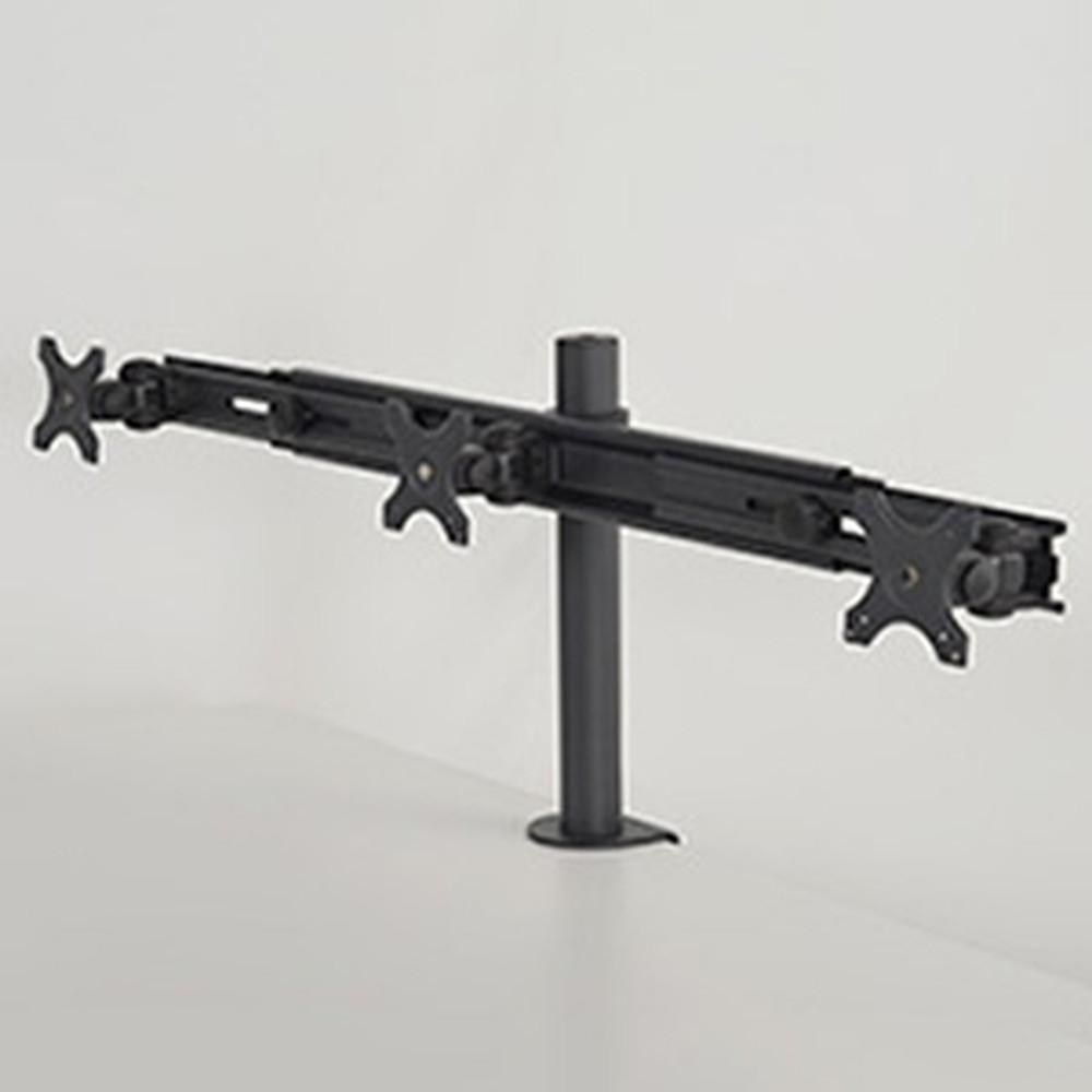 サンコー フレキシブル3面モニターアーム 3面モデル 耐荷重各8kg クランプ式 MARMGUS2030B