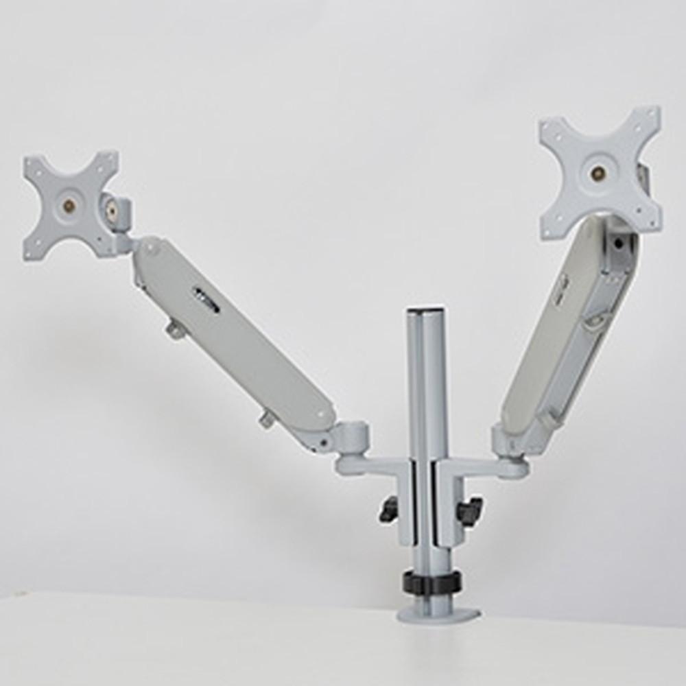 サンコー 可動式ガスショックデュアルモニターアーム 2面モデル 耐荷重各5.5kg クランプ式 MARM8540S