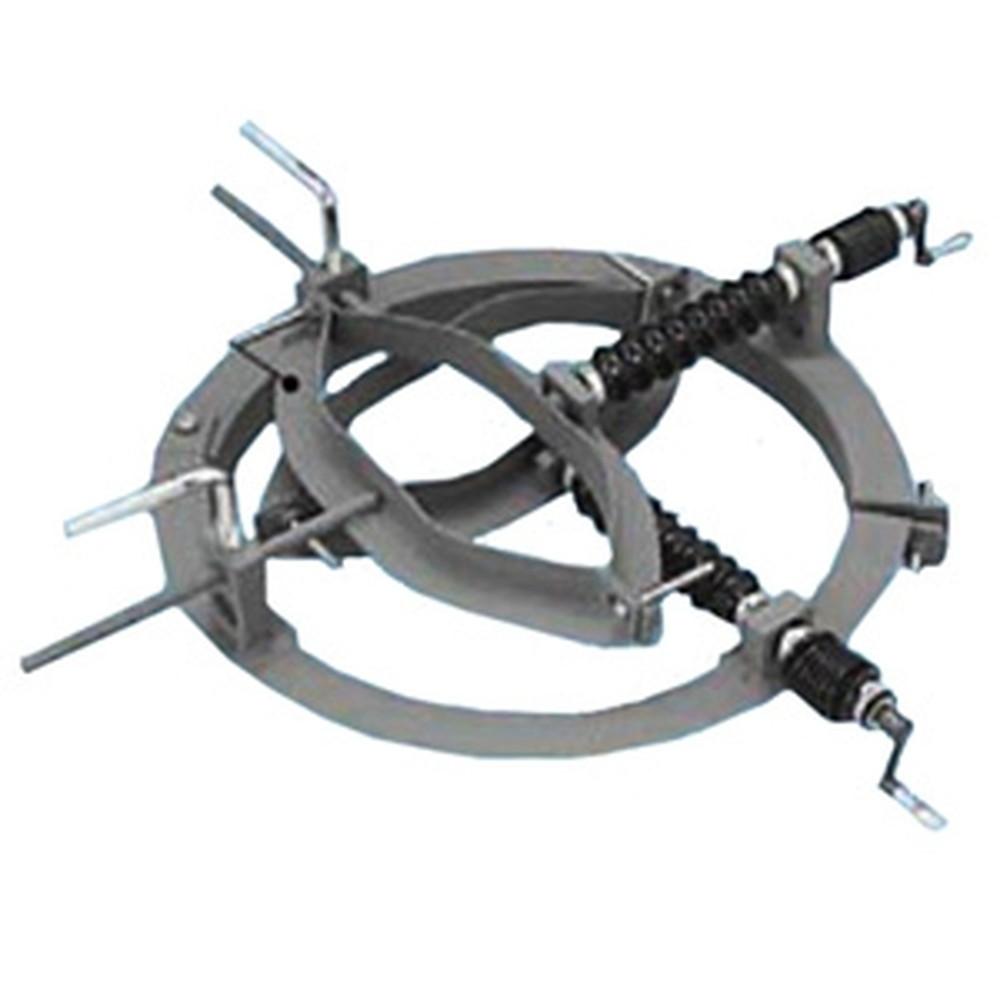 ネグロス電工 ポール垂直建方調整治具 基礎鋼板・スパイラル外径500mm ポール外径16~210mm MAKPOL