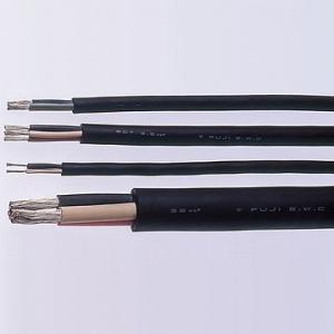 富士電線 2種EPゴム絶縁クロロプレンゴムキャブタイヤケーブル 2.0㎟ 3心 100m巻 2PNCT2SQ×3C×100m