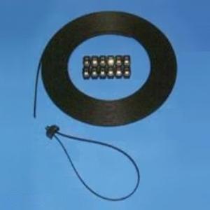 エスケイ工機 長尺バンド 細幅タイプ バンド幅7.6mm バンド肉厚1.8mm 黒 100m巻 ED6-100