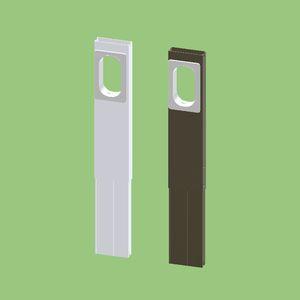 関東器材 【ケース販売特価 5個セット】 窓配管用 アルミパネル シルバー 1.4m 配管貫通部:W45mm×H85mm ALP-140DX_set