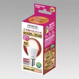日立 【ケース販売特価 10個セット】 LED電球 小形電球形 広配光タイプ 調光器対応 電球色 小型電球25W形相当 全光束:420lm E17口金 LDA7L-G-E17/DS_set