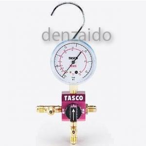 タスコ R410A/R32ボールバルブ式シングルマニホールド 68φゲージ TA123C