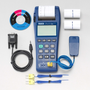 タスコ 2chデジタルレコード温度計セット 高速応答タイプ ケース付 TA410EA