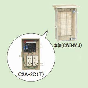 未来工業 屋外電力用仮設ボックス 漏電しゃ断器・分岐ブレーカ・コンセント内蔵 ELB組込品透明蓋 C2A-2C