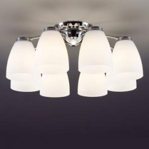 山田照明 LEDシャンデリア ~14畳向け E26 LED電球 9.1W×8 電球色 CD-4282-L