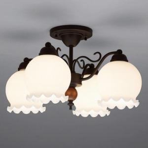 山田照明 LEDシャンデリア ~4.5畳向け E26 LED電球 9.1W×4 電球色 CD-4289-L