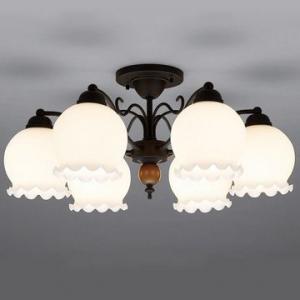 山田照明 LEDシャンデリア ~8畳向け E26 LED電球 9.1W×6 電球色 CD-4290-L