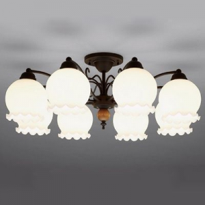 山田照明 LEDシャンデリア ~12畳向け E26 LED電球 9.1W×8 電球色 CD-4291-L