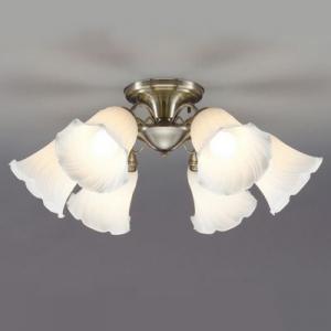 山田照明 LEDシャンデリア ~8畳向け E26 LED電球 9.1W×6 電球色 CD-4293-L