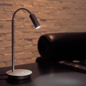 山田照明 LEDスタンドライト ダイクロハロゲン20W相当 電球色 定格光束34lm シルバー 調光スイッチ付 TD-4119-L
