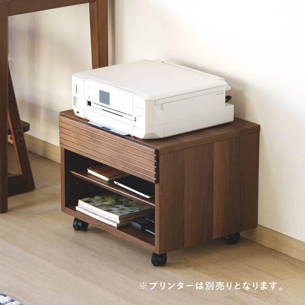 bf5c5df95a プリンターカートプリンタワゴンアルダーキャスターデスク収納脇置き木製ナチュラル送料無料PUREPRINTERCART50H38-