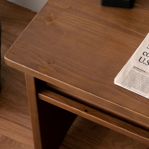【2/1限定!エントリーでポイント17倍】文机木製天然木無垢パイン材ブラウン座机書斎机お座敷和室洋室インテリア経机腰掛け椅子腰掛け玄関リビングSNIPEDESK56PINE