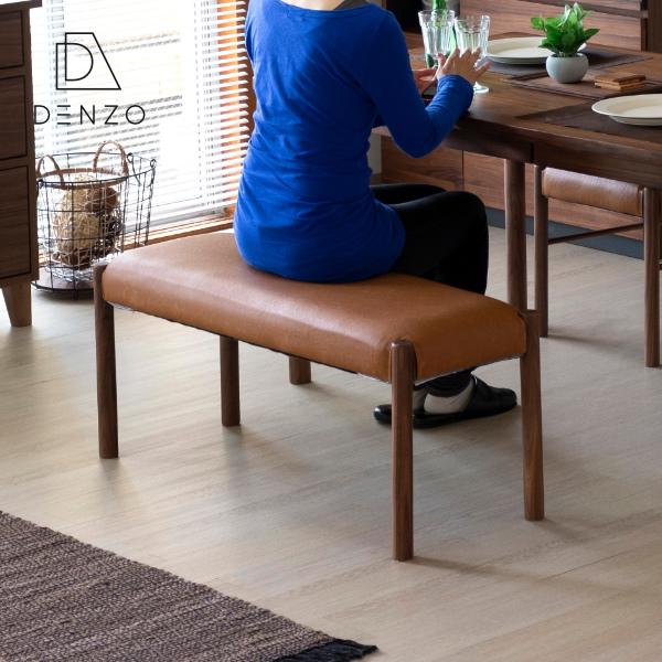 【(5/1限定!)エントリーでP20倍!】 ダイニングベンチ 100cm カバー 背もたれ無し 2人掛け 木製 ウッド 合成皮革 カバーリング 完成品 北欧 シンプル ナチュラル ブルー ウォールナット 椅子 スツール 送料無料 STYLE DINING BENCH 100 - ISSEIKI 101-01840