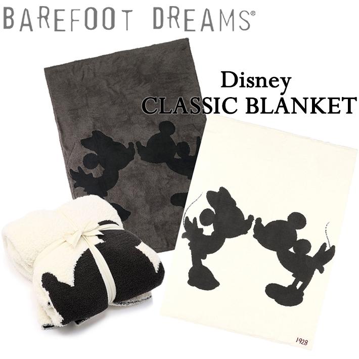 BAREFOOT DREAMS ベアフットドリームス Classic Mickey Mouse & Minnie Mouse Throw クラシック ミッキーマウス&ミニーマウス ブランケット スローケット ディズニー ソファ 掛け布団