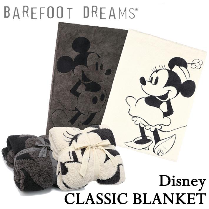 【マラソン中ポイント7倍】BAREFOOT DREAMS ベアフットドリームス Classic Mickey Mouse Minnie Mouse BLANKET クラシック ミッキーマウス/ミニーマウス ブランケット ディズニー【SUMMER_D1808】
