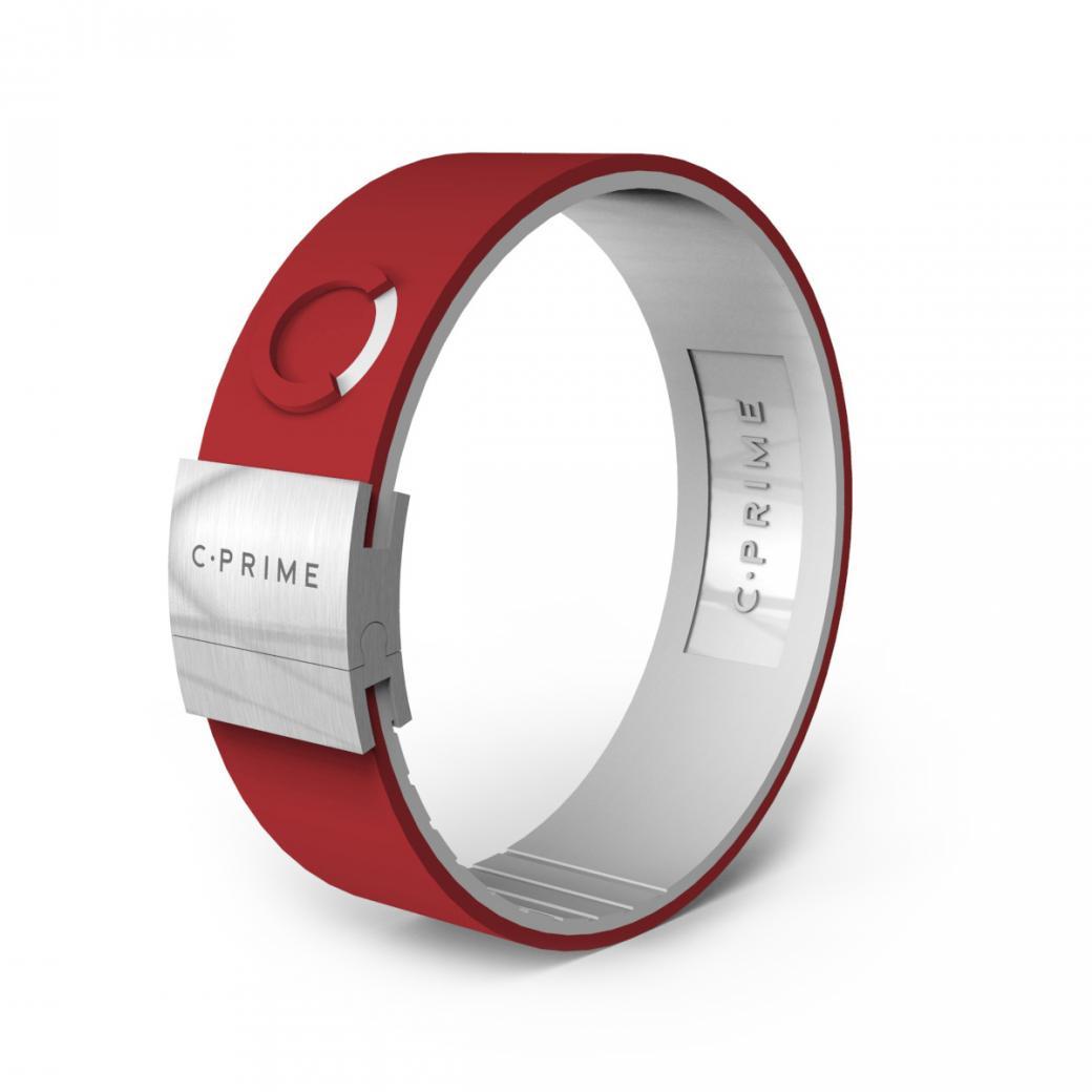 C-PRIME シープライム NEO ネオ CRIMSONxWHITExSTAINLESSパワーバンド リストバンド ブレスレットバランス スポーツ 運動 健康
