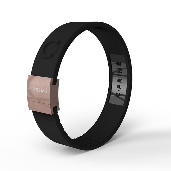 C-PRIME シープライム NEO thinline ネオシンライン BLACKxBLACKxROSE GOLDパワーバンド リストバンド ブレスレットバランス スポーツ 運動 健康