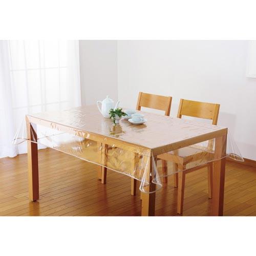テーブルをキズや汚れから守り質感をそのまま生かせます 汚れ防止透明テーブルカバー ビニールカバー テーブルクロス 送料無料 クリックポスト 120×180cm メール便 お求めやすく価格改定 正規激安