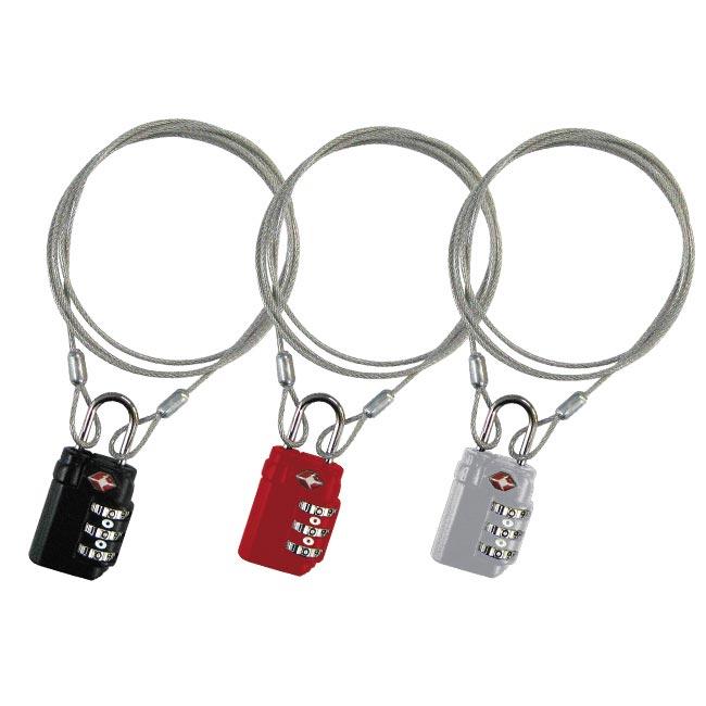 毎日がバーゲンセール 海外旅行に安心のTSAロック 鍵 南京錠 1m 格安 価格でご提供いたします TSAワイヤーGX 盗難防止