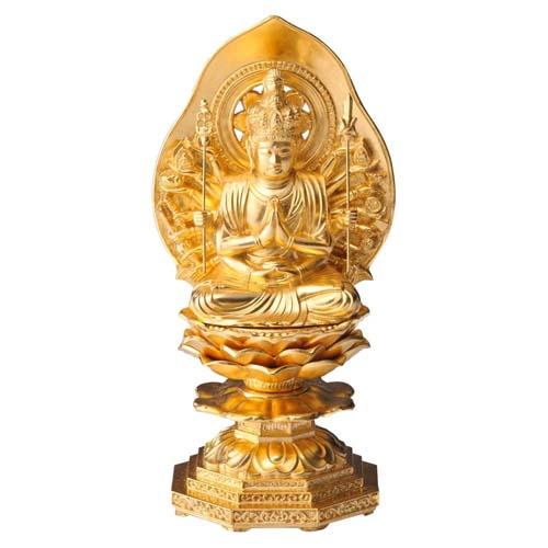 ねずみ年生まれの御守り本尊 インテリアとして飾れる仏像です 仏像 人気急上昇 千手観音菩薩 金箔仕様 15cm 交換無料
