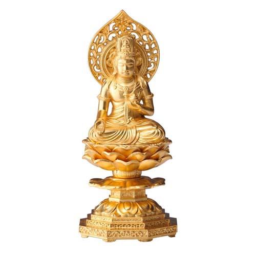 牛 寅年生まれの御守り本尊 インテリアとして飾れる仏像です 仏像 虚空蔵菩薩 金箔仕様 新品 送料無料 超安い 15cm