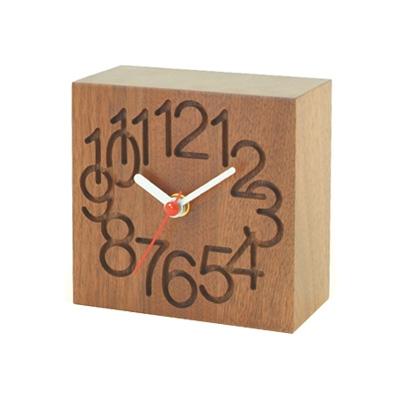 コサイン cosine MUKU時計 小(ウォルナット) CW-08CW (木製 とけい ウッドクロック 新築祝い 壁掛け時計 置き時計 ギフト インテリア 日本製 国産) 児童館