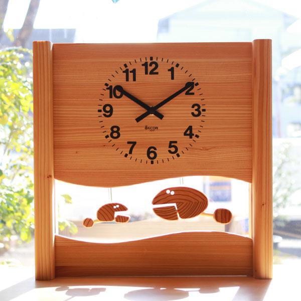 楽しく親子でお話しているサカナの時計 KICORI さかなの親子の時計 k184 木の時計 プレゼント キコリ 木製 とけい ウッドクロック 新築祝い 販売期間 限定のお得なタイムセール 壁掛け時計 置き時計 ギフト インテリア お祝い 人気ブレゼント 開業祝い 可愛い 日本製 誕生日 おしゃれ 開園祝い 子供 開店祝い 贈り物 国産 動物 出産祝い 開院祝い