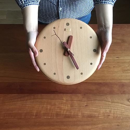 デポー限定 手作り 木の時計 小枝クロック(大) (木製 とけい ウッドクロック 新築祝い 壁掛け時計 置き時計 ギフト インテリア 日本製 国産) 児童館