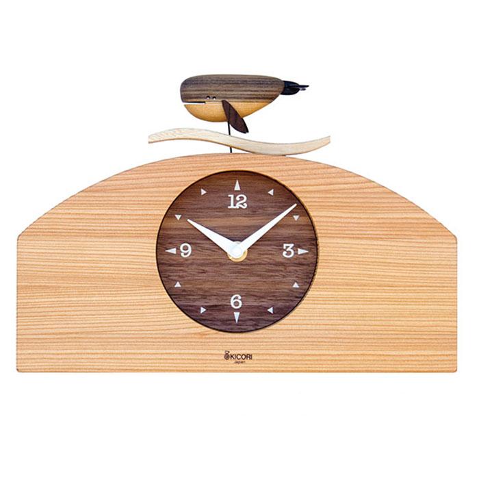 KICORI【くじらの時計】k121【送料無料】木の時計・信州