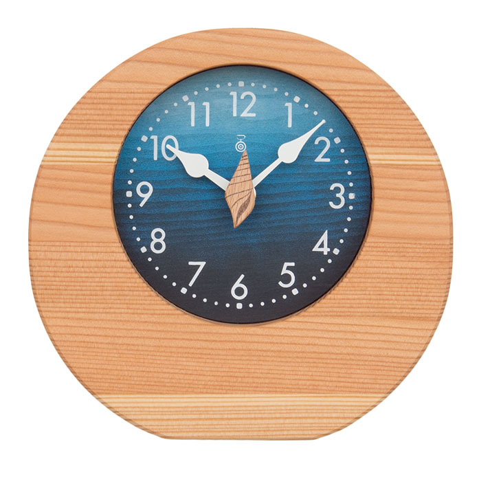 KICORI 海の置時計 k205 (木製 とけい ウッドクロック 新築祝い 壁掛け時計 置き時計 ギフト インテリア 日本製 国産) 児童館
