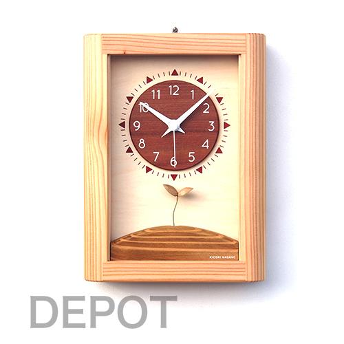 木の時計 KICORI K484【ひなたの時計】【送料無料】置き掛け兼用
