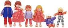 ボクとわたしと・・・、おかあさんと・・・。ドールハウス用のお人形セットです。 【お人形(7人家族セット)】【送料無料】【fsp2124】 児童館