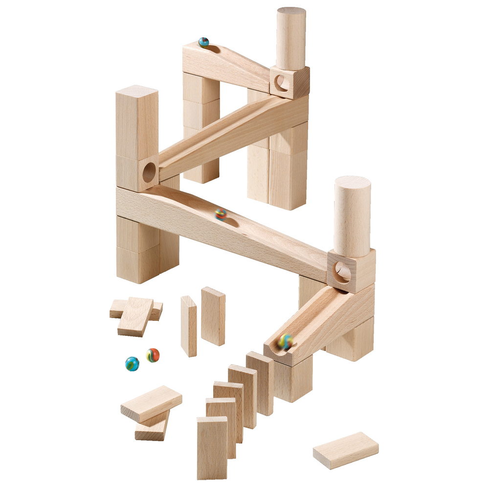 HABA ハバ クーゲルバーン スターターセット 3歳+ ドイツ製 HA1128 (積み木 玉転がし 知育玩具 ギフト 誕生日プレゼント 男の子 女の子 木のおもちゃ 木製) 児童館:木のおもちゃ デポー