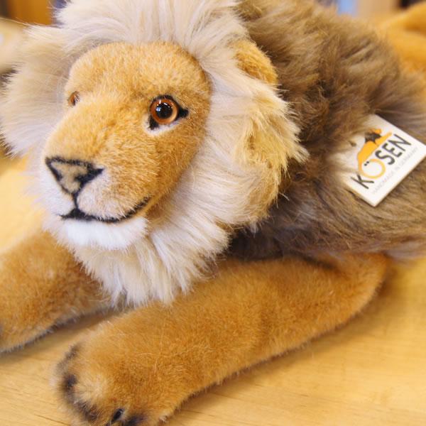 ケーセン社のくたくたライオンのぬいぐるみ! Kosen ケーセン ドイツ製 ぬいぐるみ くたくたライオン( ギフト プレゼント 誕生日 出産祝い 女の子 男の子 縫いぐるみ らいおん)