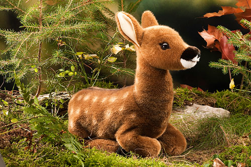 Kosen ケーセン ドイツ製 ぬいぐるみ 子ジカ 座り( ギフト プレゼント 誕生日 出産祝い 女の子 男の子 縫いぐるみ しか 鹿) 児童館