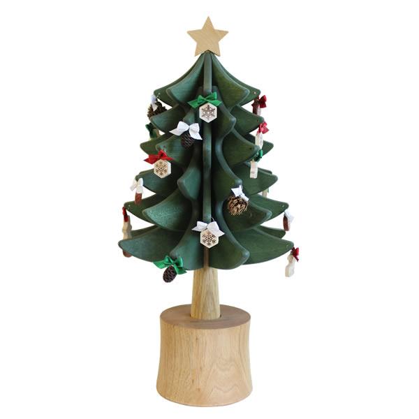 ♪ 橡木村庄木制圣诞树