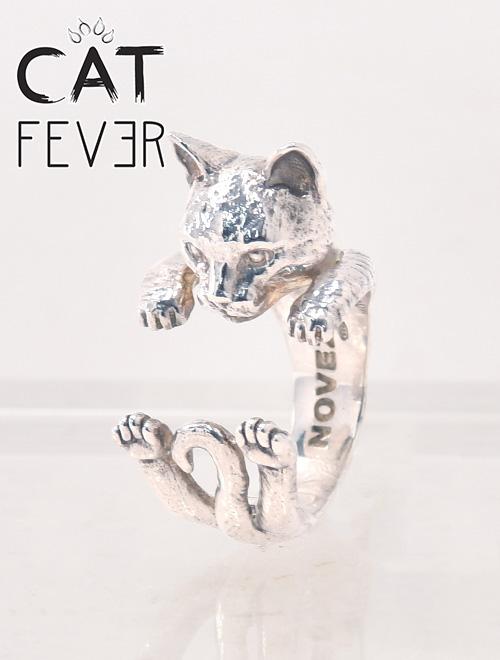 キャットフィーバー EUROPEAN CAT ヨーロピアン猫 ドッグフィーバーハグリング イタリアハンドメイドアクセサリー 指輪