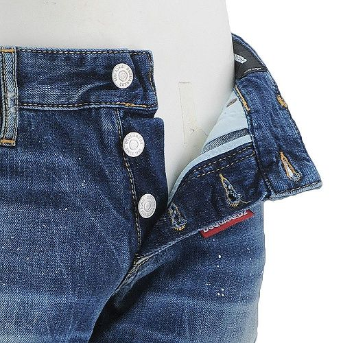 绑带 Dsquared2 洗牛仔裤纤细苗条禅基本颜色设计连续的隧道,在修补程序后面排队及损伤修复按钮油漆瘦修身牛仔裤
