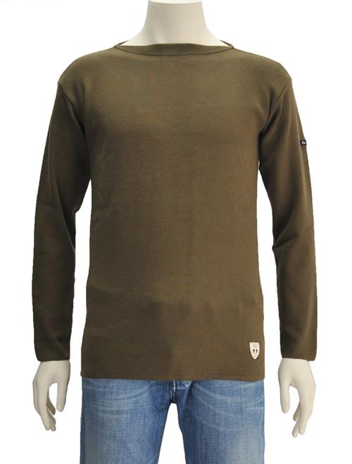 フィールズ ダルボー  FILEUSE D'ARVO BREST 027OLIVE オリーブ無地タイプ 単色 オーガニックコットンニット製バスクシャツ フランス製
