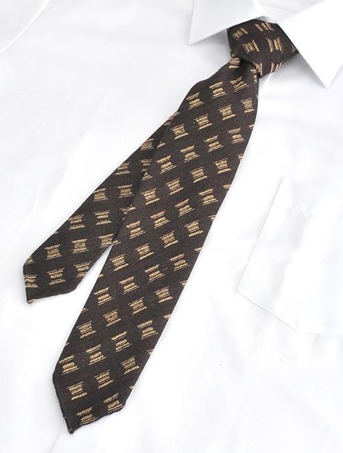 ウルトゥラーレ  ULTURALE メンズ アクセサリー ブラウン ウール&シルク 刺繍柄 トレピエゲ 3つ折りネクタイ イタリア製 剣先幅6.5cm ナロー