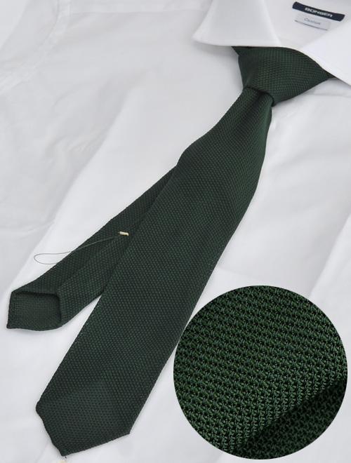 ウルトゥラーレ グリーン シルク100%無地 大剣6.5cm 清涼さも楽しむニットタイ メンズアクセサリー
